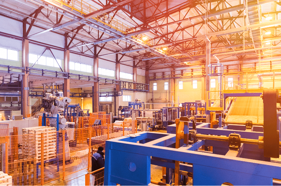 manufacturing facility supported by manufacturing logistics