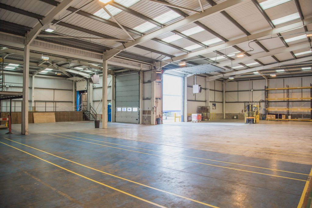 large warehouse space offering warehousing solutions