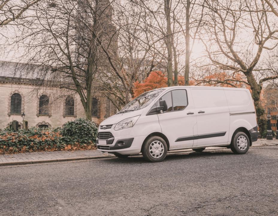 plain white delivery van