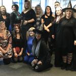 people dressed in halloween costumes